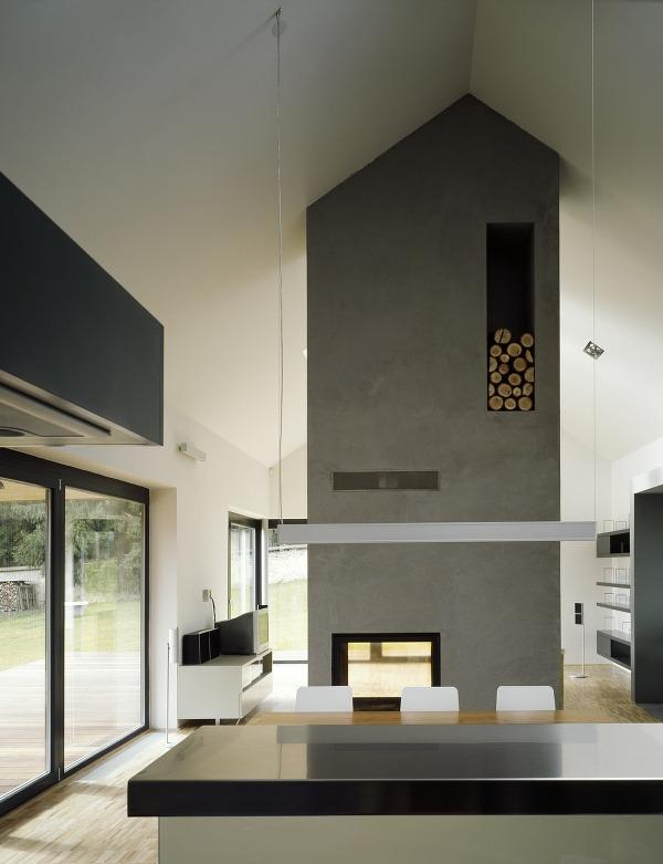 Minimalistický domček spojený s