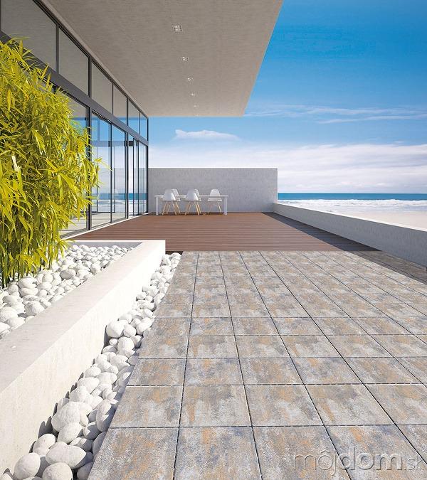 Exteriérovú dlažbu a podlahu