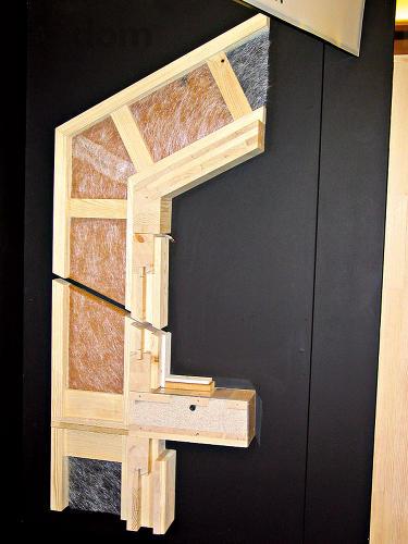 Do drevenej konštrukcie montovaného