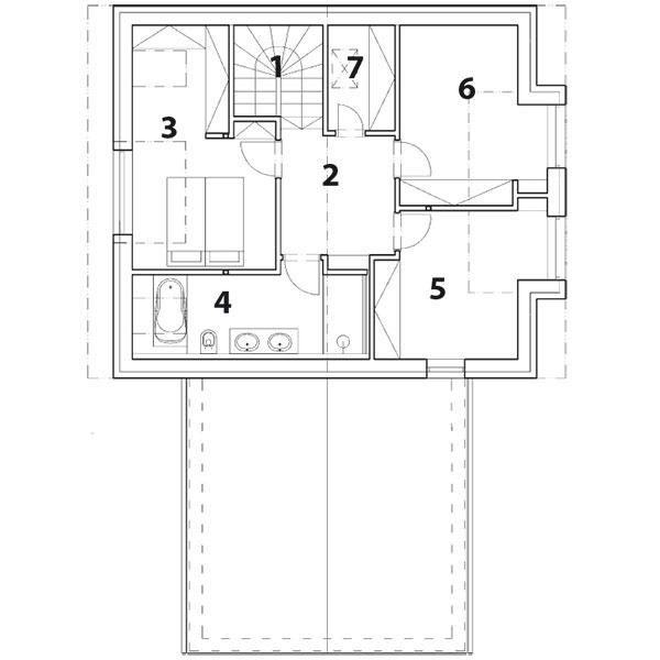 Pôdorys 1. poschodia 1