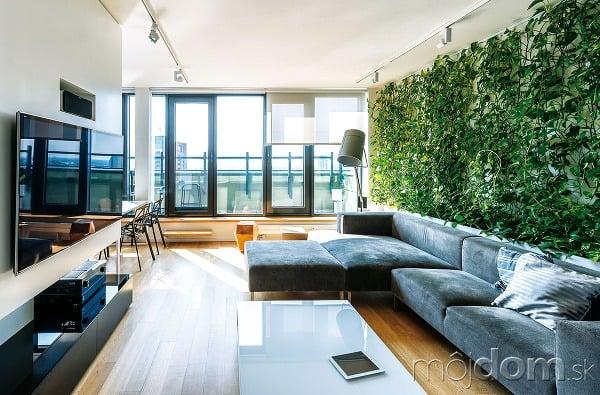 Elegantné apríjemné. Obývačke dominuje
