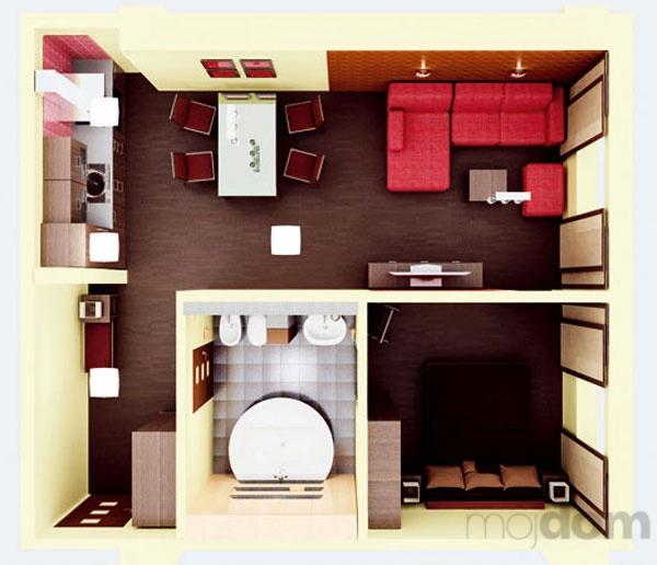 Kuchyňa a obývačka v