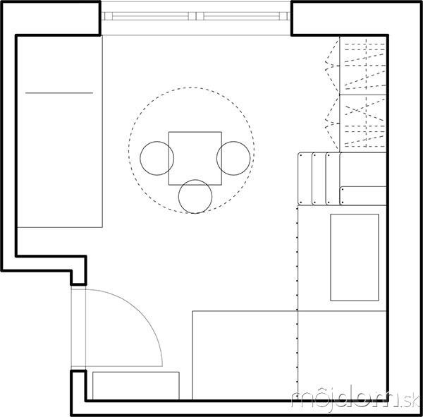 Detská izba pre troch