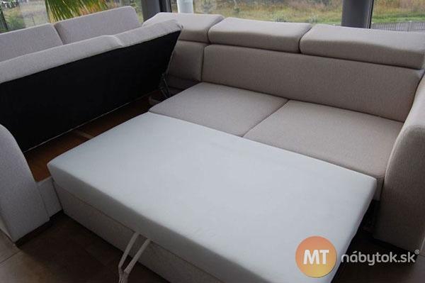 Rozkladacia rohová sedacia súprava