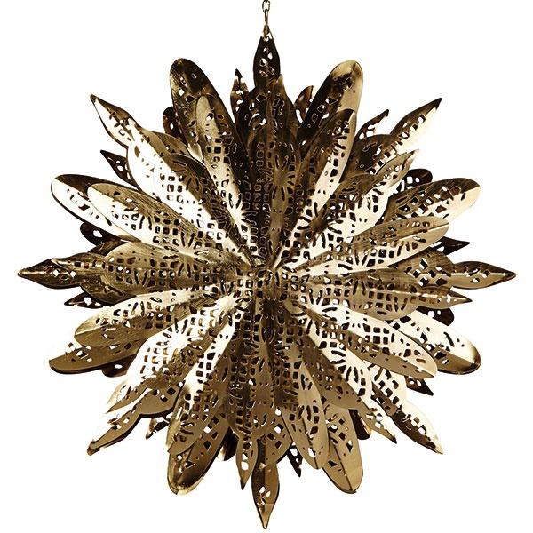 Papierová hviezda vnoblesnej zlatej