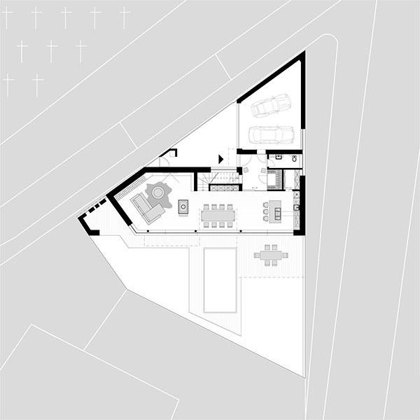 Trojuholníkový pozemok v Prievoze