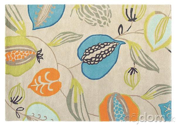Ručne všívaný vlnený koberec