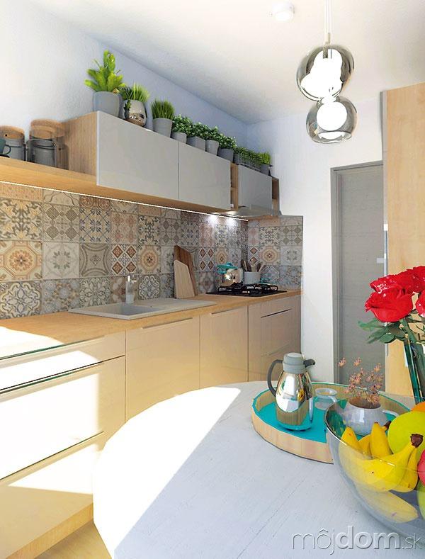Vzorovaný vintage obklad kuchyňu