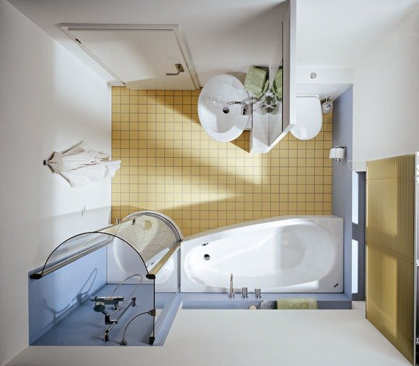 Mala kupelna s vanou a sprchov m kutom dom ce in pir cie for Badezimmer ideen 5m2