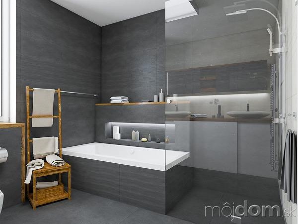 Priestranná kúpeľňa snápaditou kamuflážou