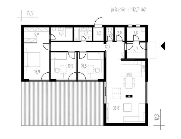 Rodinný dom Bungalov 1502
