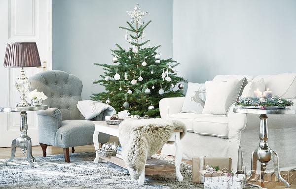 Vianočná obývacia izba v
