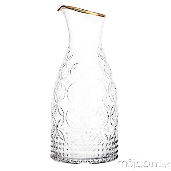 Štruktúrovaná karafa zčíreho skla,