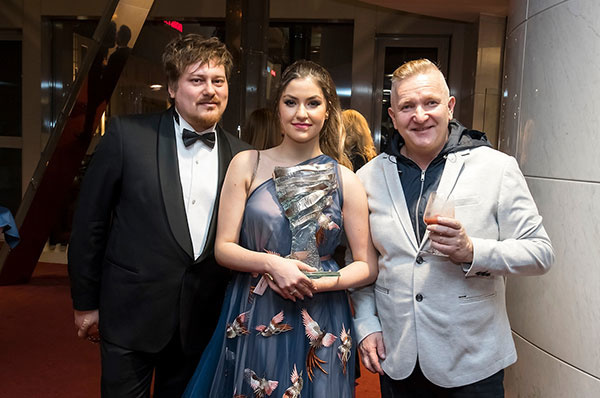 Boris Hanečka, Celeste Buckingham a režisér galavečera Nikita Slovák