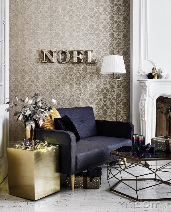 Metalické tapety s ornamentálnym