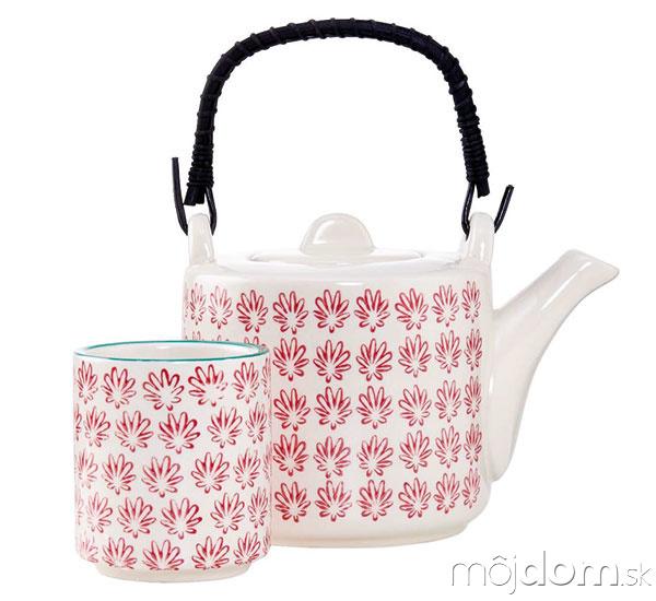 Konvička na čaj, porcelán,
