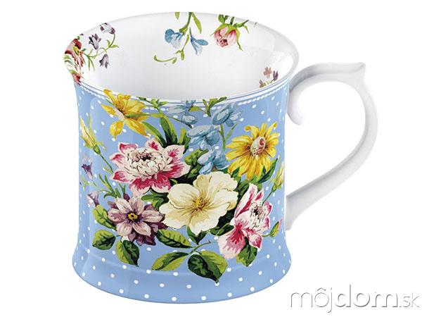 Modrý porcelánový hrnček Creative
