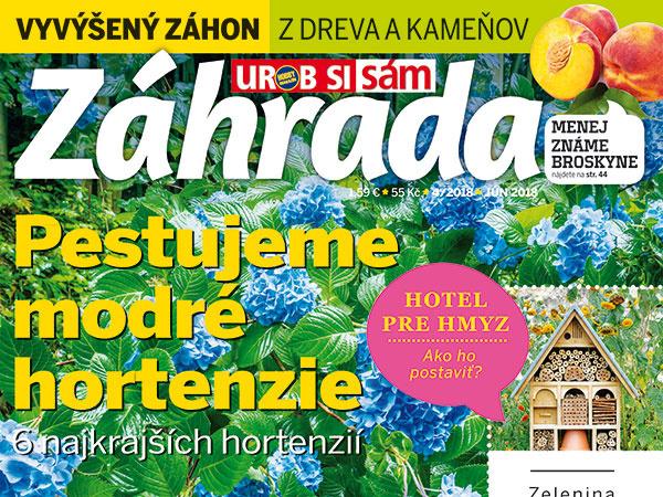 Najnovšie vydanie časopisu Záhrada