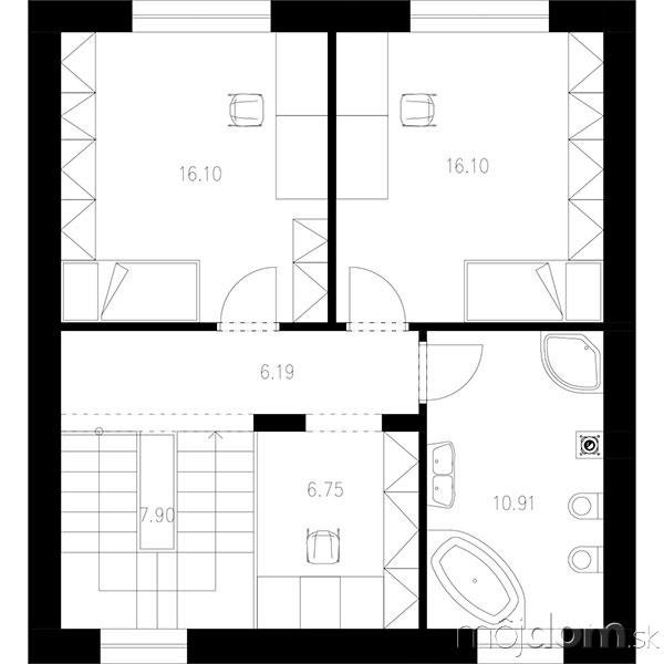 Projekt poschodového rodinného domu