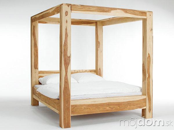 posteľ snebesami, palisandrové drevo,