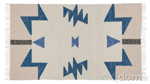 Vlnený koberec Kelim Blue