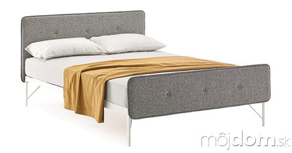 Čalúnená posteľ, oceľ, poťah