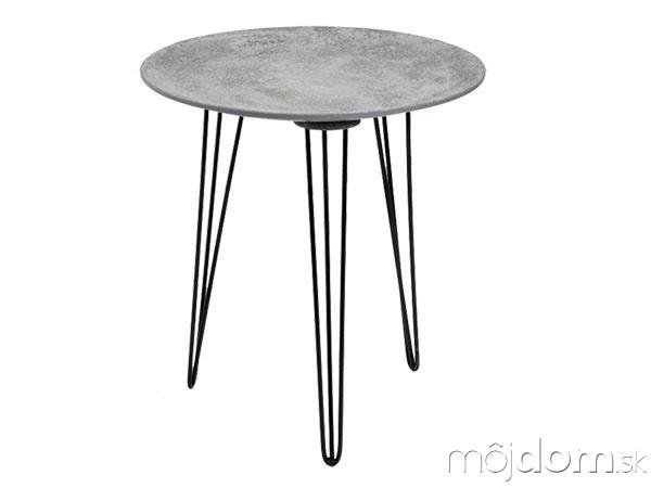 Príručný stolík, betónový povrch,