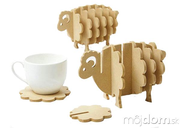 Podtácky vtvare ovečky, drevotriesková