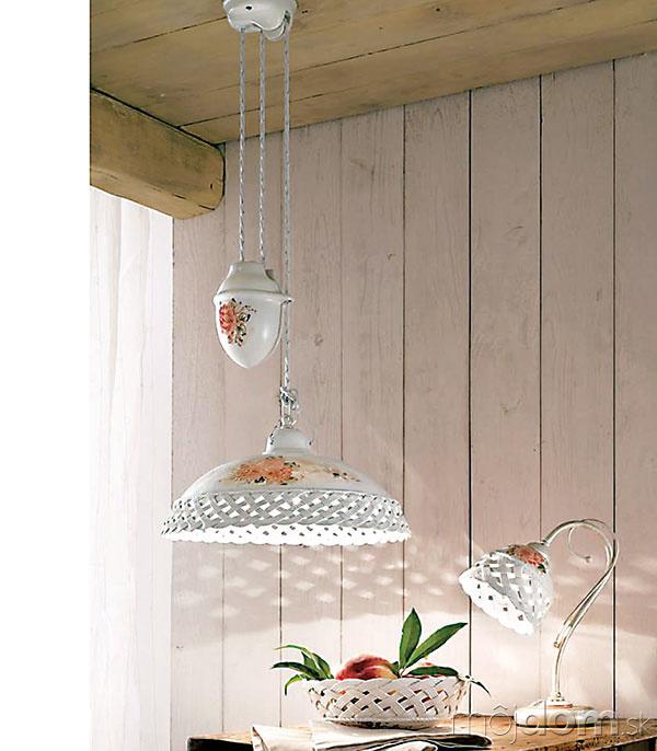 Keramické lampy asvietidlá vytvoria