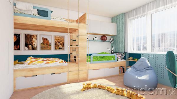 Poschodové postele poskytujú príjemné