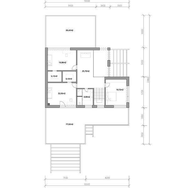 Projekt rodinného domu Black
