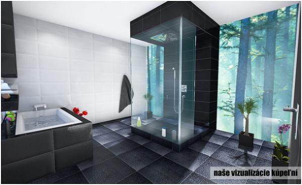 Vizualizácia modernej kúpeľne s