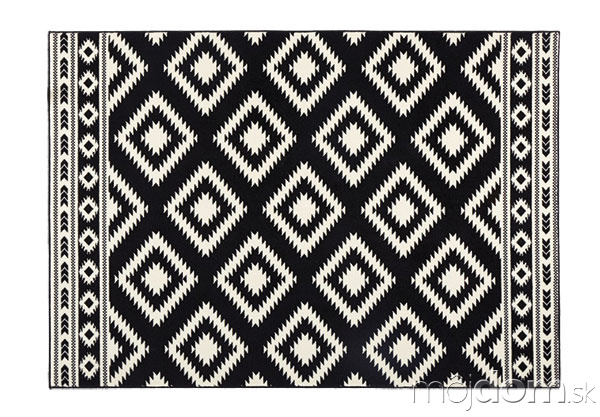 Čierny koberec Hanse home