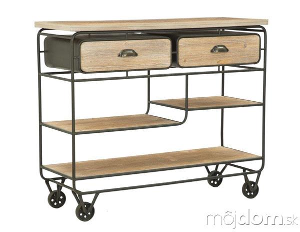 Odkladací stolík na kolieskach