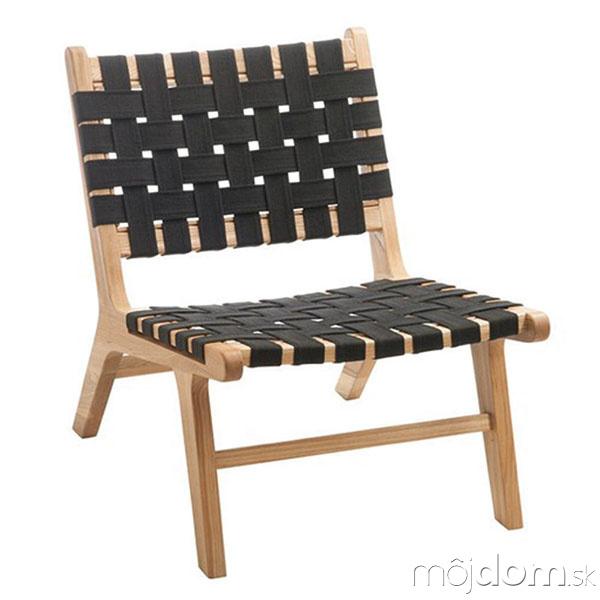 Stolička Caitria Black, drevo,