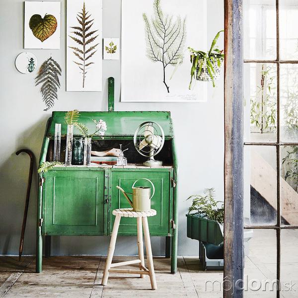 Zeleň v interiéri pôsobí