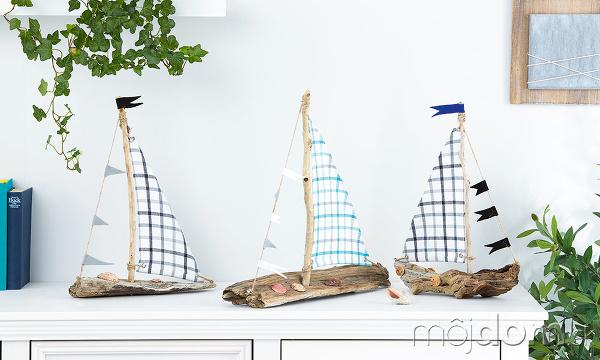 Vzhľad loďky doladíme mušľami