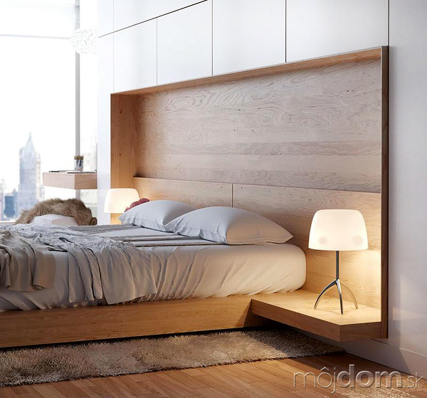 Okolo postele si vytvorte