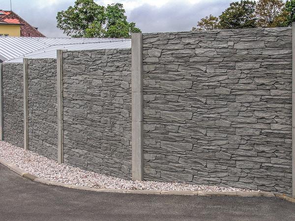 betónový plot
