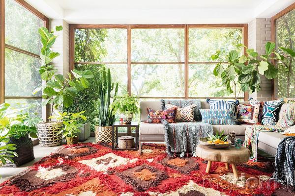 obývacia izba v orientálnom