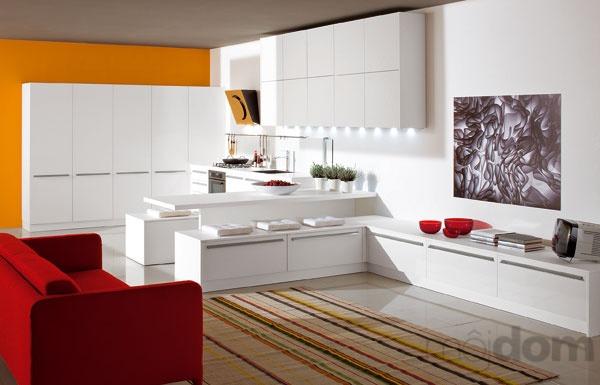 Zosúladené zariadenie kuchyne spojenej