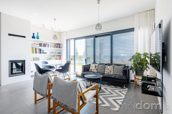 poločný priestor obývačky, jedálne