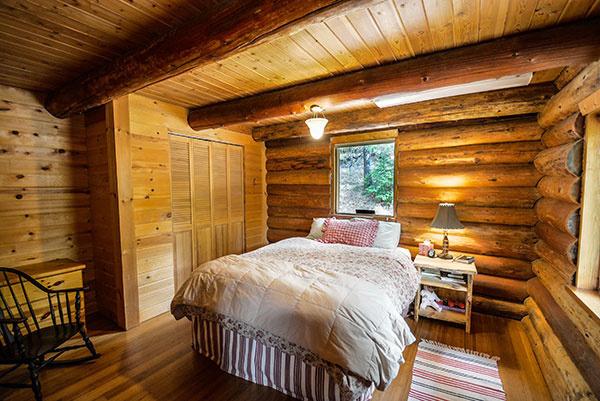 spálňa v drevodome