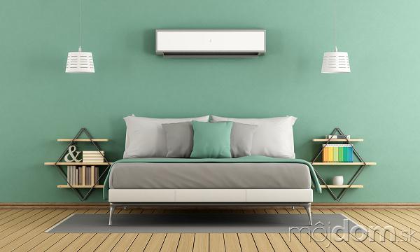 zelená farba na stene