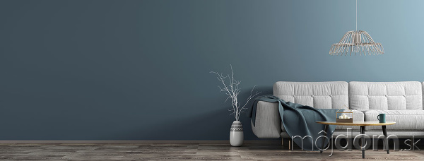 modrá farba steny v