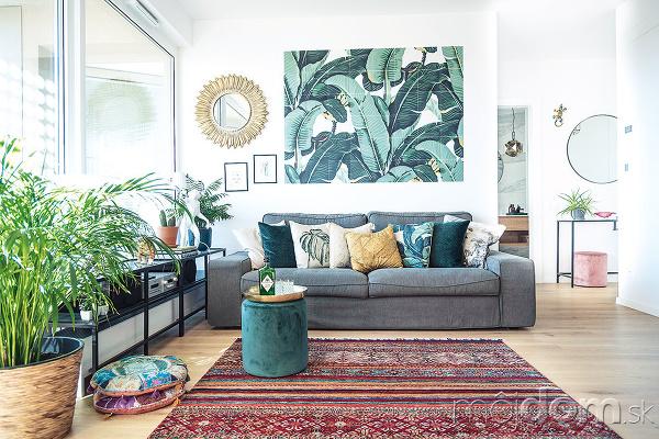 sedacia suprava v obývačke