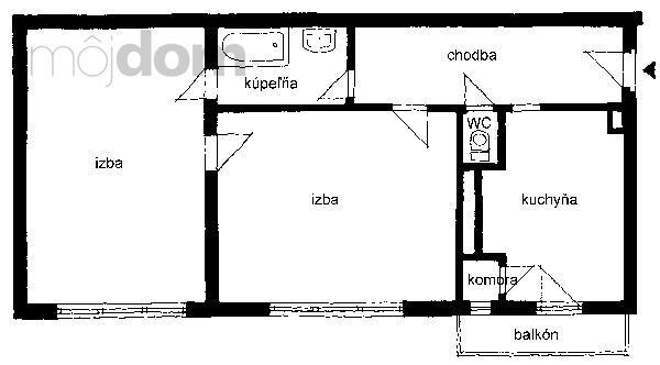 Pôdorys bytu – pôvodný