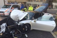 Zničené Ferrari 458 Italia