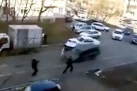 Subaru Forester uniká policajtom v Rusku