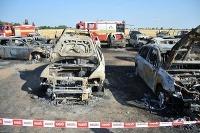 Požiar áut v Sládkovičove